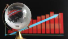 Globe on background graphics Stock Footage