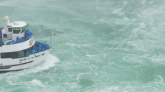 4K Maid of the Mist Tourist Boat at Niagara Falls - stock footage