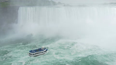 4K Maid of the Mist Tourist Boat at Niagara Falls Stock Footage