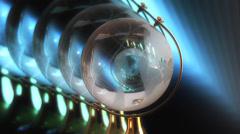 Globe on a futuristic background Stock Footage