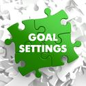 Stock Illustration of Goal Settings on Green Puzzle.