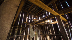 Time Lapse - Sunshine and Shadows in a Old Barn Stock Footage
