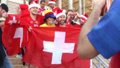Swiss in World Cup 2014, Brazil Stock Footage