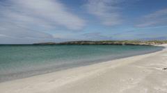 Breckon Sands Yell Shetland Scotland - stock footage