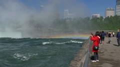 4K Tourists at Niagara Falls Stock Footage