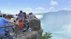4K Tourists at Niagara Falls Canada Stock Footage