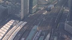Aerial Metropolis Tokyo Rail Station Marunouchi Shinkansen - stock footage