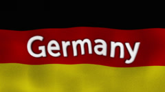 Germany Flag and Text, Textile Background Stock Footage