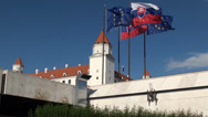 Stock Video Footage of Flags of Slovakia and European Union