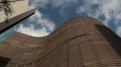 Copan Building, Sao Paulo, Brazil. Blue sky and clouds - Oscar Niemeyer. Stock Footage