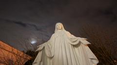 Time Lapse - Mother Mary Night Stock Footage