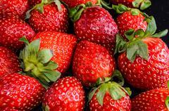 fresh ripe strawberry - stock photo
