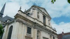 Eglise Notre-Dame de Richelieu - Richelieu France Stock Footage