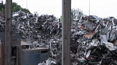 Rubish dump _ scrap Heap Stock Footage