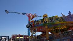Amusement Park Rides, Fun, Leisure Stock Footage