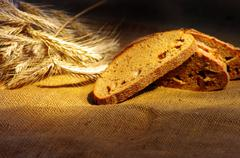 Stock Photo of bread and wheat ears