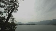 Lake Kawaguchi side pine tree, non color grade Full HD (1920x1080) Stock Footage