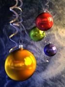 christmas balls - stock illustration