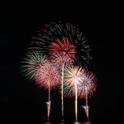 fireworks or firecracker of colorful brightly. - stock photo