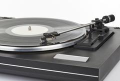 Vinyl player Stock Photos