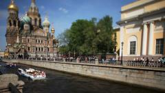 Travel to Russia St. Petersburg in the summer - stock footage