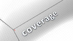 Growing chart graphic animation, Coverage. Stock Footage