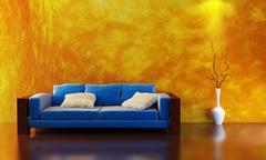 sofa 3D rendering - stock photo