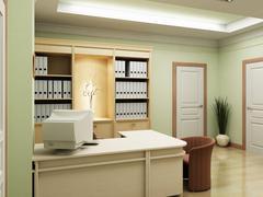 3d office rendering Stock Photos