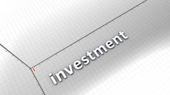Growing chart graphic animation, Investment. - stock footage