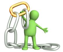 Stock Illustration of Gold chain link