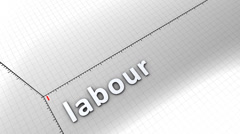 Growing chart graphic animation, Labour. - stock footage