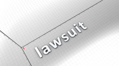 Growing chart graphic animation, Lawsuit. Stock Footage