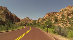 Zion National Park drive POV landscape HD Stock Footage