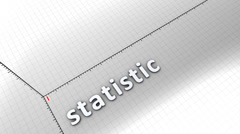 Growing chart graphic animation, Statistic. Stock Footage