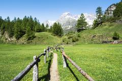 Alpe devero near the village of crampiolo Stock Photos