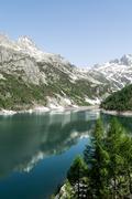 Devero lake, spring season - italy Stock Photos