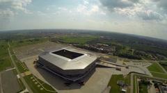Stadium Arena - Lviv  - Aerial View Stock Footage