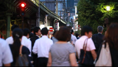 People walking in Yurakucho, Tokyo, Japan Stock Footage