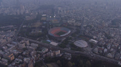 Aerial National Sports Stadium 1964 Olympics 2020 Olympic Park Tokyo Japan - stock footage