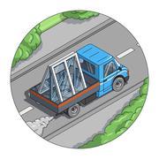 Car carry window Stock Illustration
