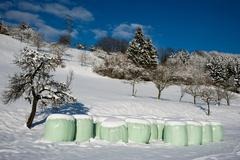 silage bag - stock photo