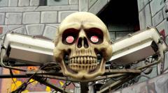Skeleton Skull Head Stock Footage