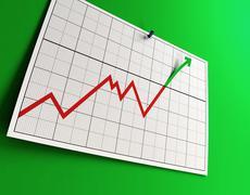 Raising graph Stock Photos
