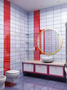 3d bathroom rendering Stock Photos