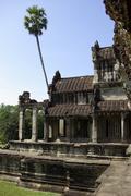 Unusual part of Angkor Wat temple - stock photo