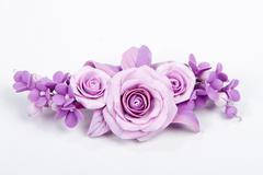 Beautiful handmade hairpin Stock Photos