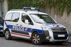 Modern french police car Stock Photos