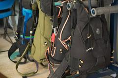 parachute packs - stock photo