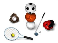 Tennis, golf, soccer, basket and more Stock Illustration