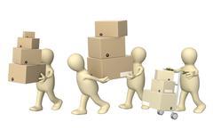 Delivering - stock illustration
